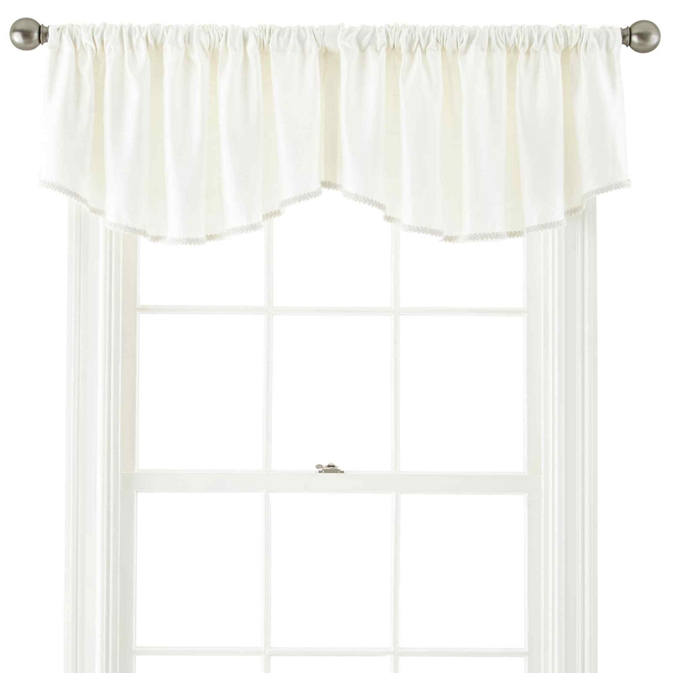 Royal Velvet Supreme Rod Pocket Lined Ascot Valance Cream