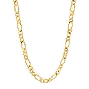 Made In Italy 10k Gold 24 Inch Hollow Figaro Chain Necklace Jcpenney