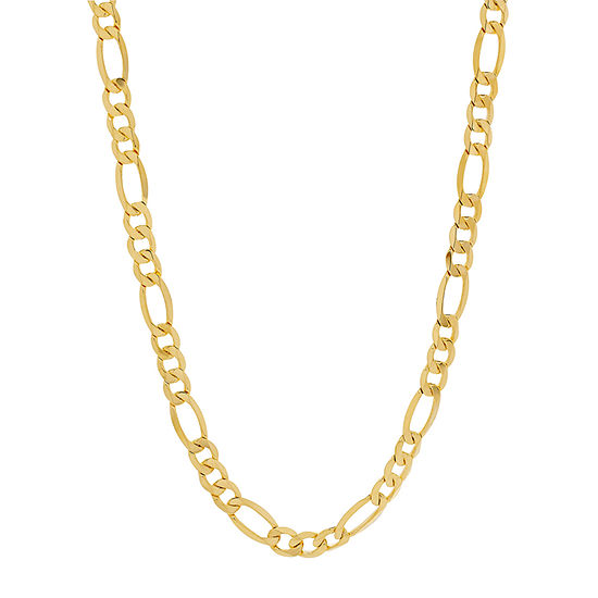 Made in Italy 10K Gold 24 Inch Hollow Figaro Chain Necklace