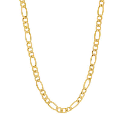 Made in Italy 14K Gold 22 Inch Solid Figaro Chain Necklace