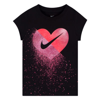 Nike Short Sleeve Crew Neck T-Shirt-Toddler Girls