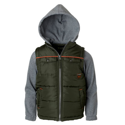 Patch Pocket Vest with Sleeves - Boys Toddler