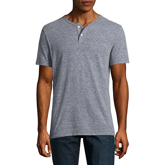 Arizona Mens Short Sleeve Henley Shirt