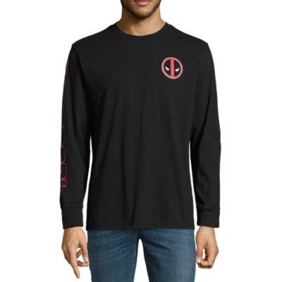 Novelty Season Long Sleeve Deadpool Tv + Movies Graphic T-Shirt