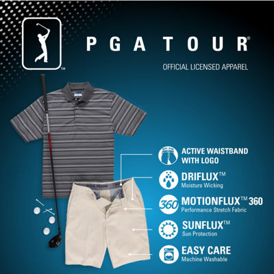 PGA Tour Motionflux 360 Performance Golf Shorts