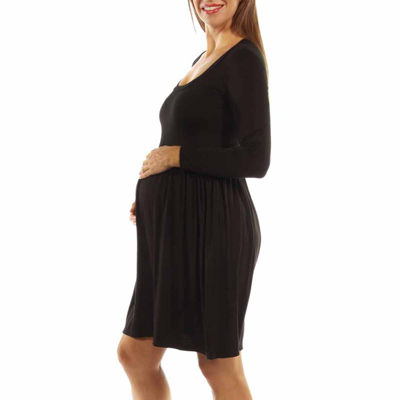 24/7 Comfort Apparel Tee Shirt Dress-Maternity