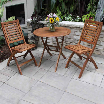 Outdoor Interiors 30 in. Brazilian Eucalyptus Table