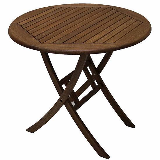 Outdoor Interiors 30 In Brazilian Eucalyptus Table