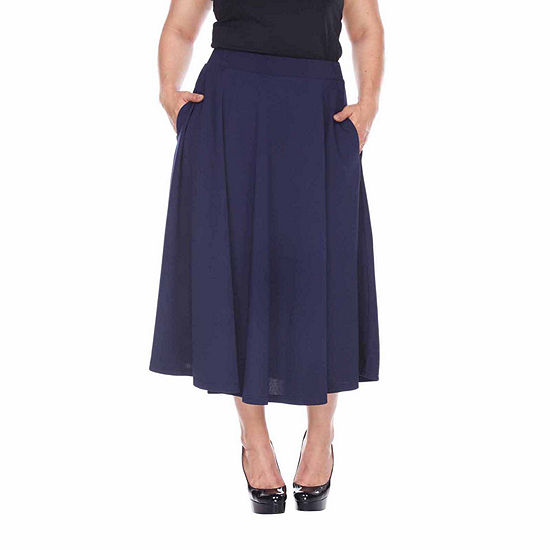 5c83770b80 White Mark Tasmin Womens Stretch Midi Flared Skirt-Plus - JCPenney