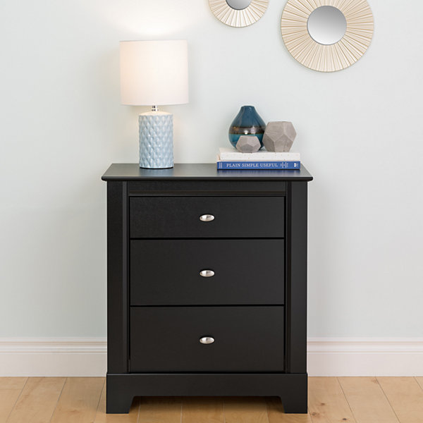 Prepac Kallisto 3 Drawer Nightstand