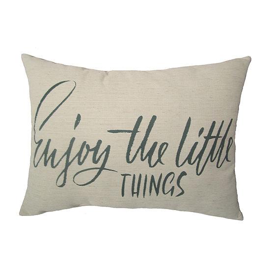 Home Fashions International Enjoy The Little Things Rectangular Throw Pillow