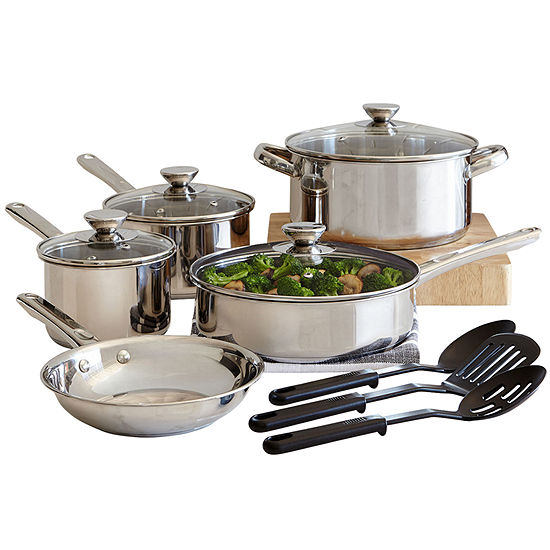 Cooks Stainless Steel 12-pc. Cookware Set