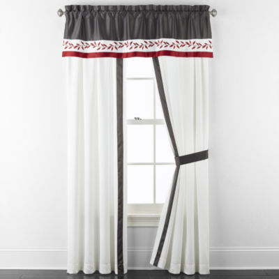 JCPenney Home Aliya Light-Filtering Rod-Pocket Curtain Panel