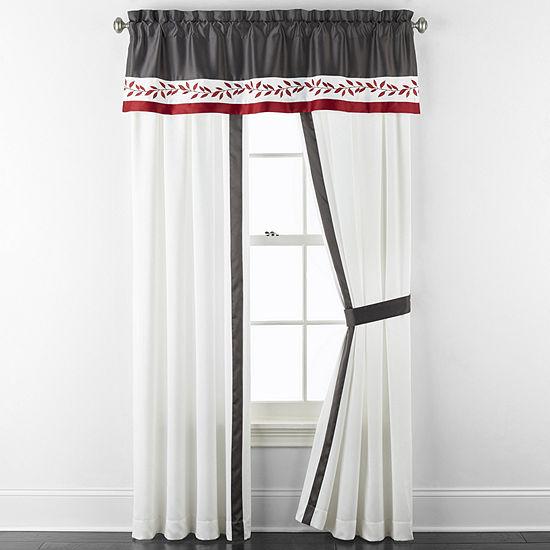 JCPenney Home Aliya Light-Filtering Rod-Pocket Curtain Panel