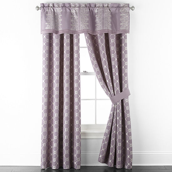 JCPenney Home Paxon Light-Filtering Grommet-Top Set of 2 Curtain Panel