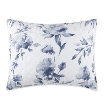 JCPenney Home Emma Indigo Rose Pillow Sham