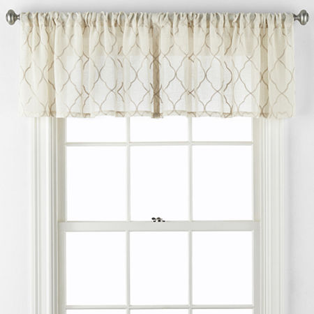 JCPenney Home Bayview Rod-Pocket Valance, One Size , Brown
