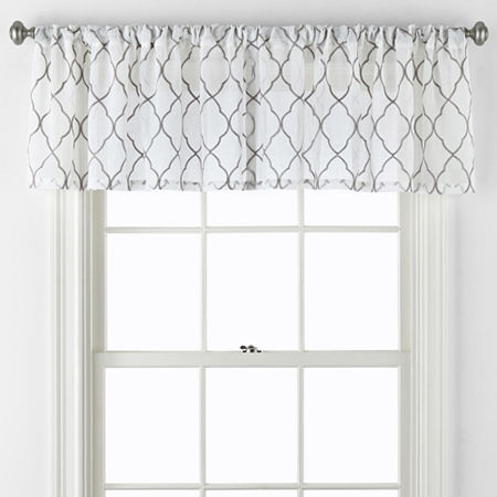 JCPenney Home Bayview Rod-Pocket Valance, One Size , Gray