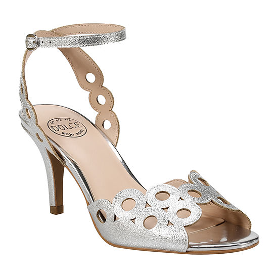 Dolce By Mojo Moxy Womens Trapezoid Heeled Sandals