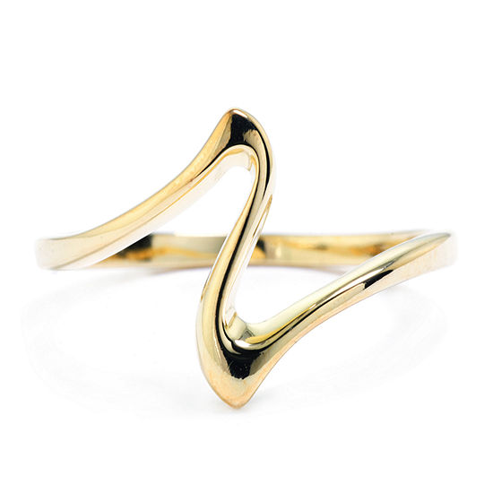 Silver Treasures Silver Treasures Womens 14K Gold Over Silver Band