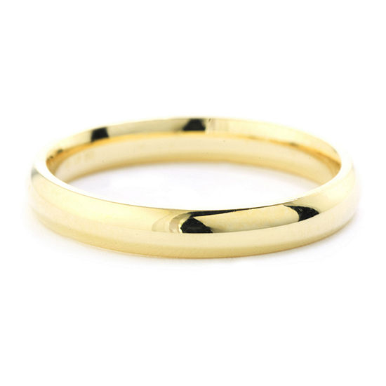 Silver Treasures 14K Gold Over Silver Polished Band Ring