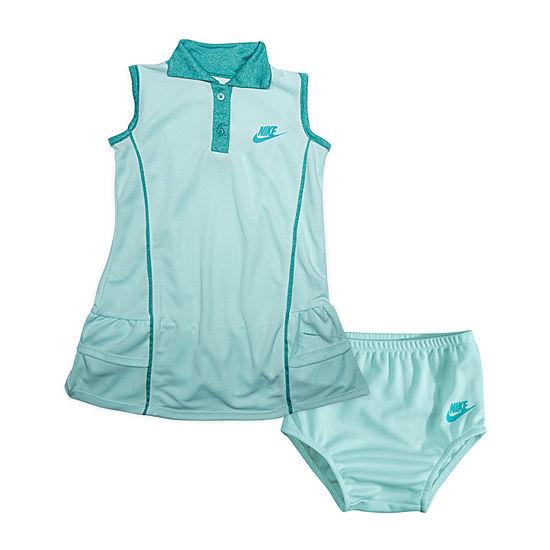 Nike Girls Sleeveless Logo T-Shirt Dresses - Baby