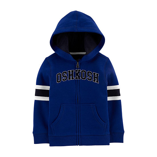 Oshkosh-Toddler Boys Embroidered Hoodie