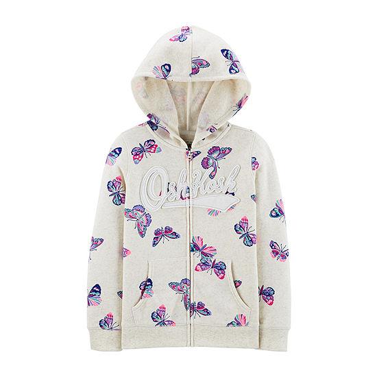 Oshkosh-Little Kid Girls Embroidered Hoodie