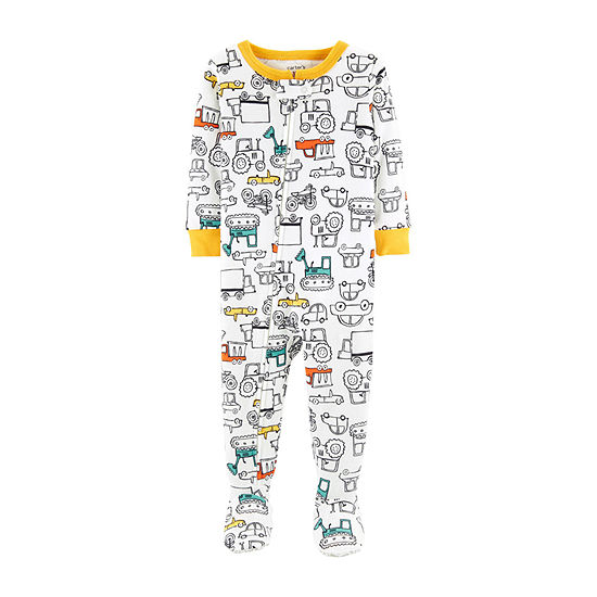 Carter's Boys Knit One Piece Pajama Long Sleeve