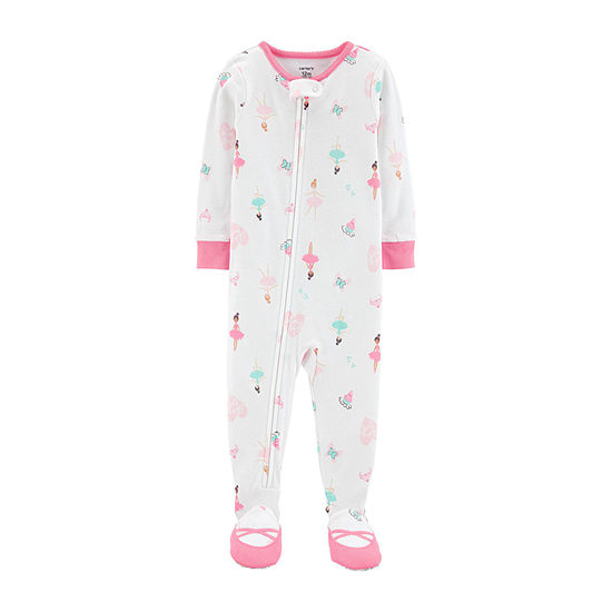 Carter's Girls Knit One Piece Pajama Long Sleeve