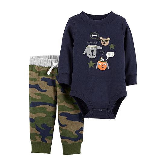 Carters 2 Pc Bodysuit Set Baby Boys