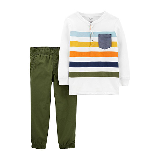 Carter's Boys 2-pc. Striped Pant Set Baby