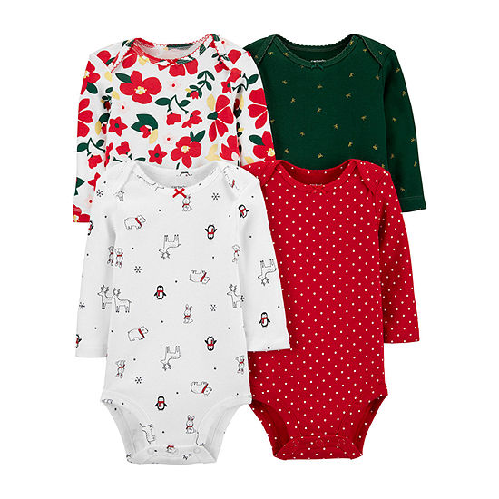 Carter's Multi Girls 4-pc. Bodysuit-Baby