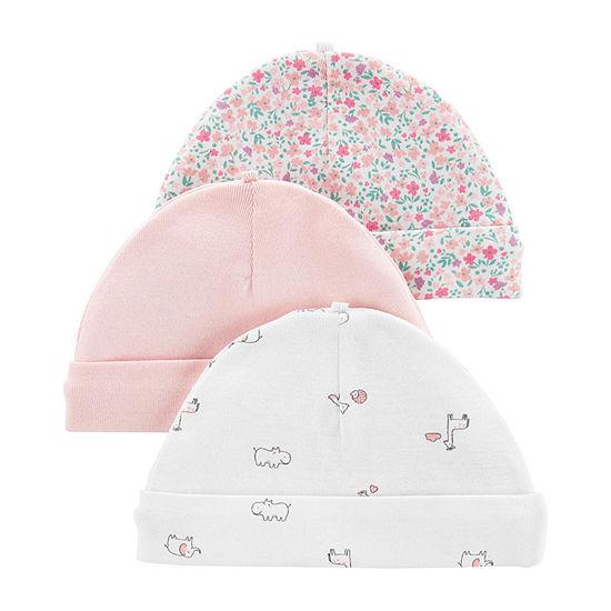 Carter's Girls 3-pc. Baby Hat-Baby
