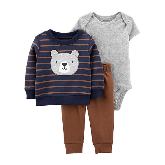 Carter's Boys 3-pc. Striped Pant Set Baby