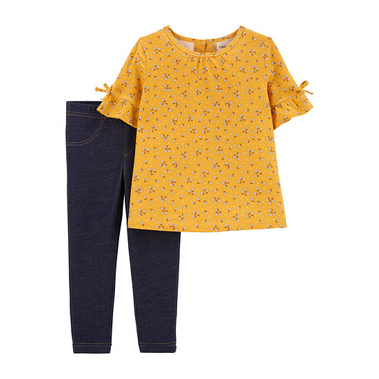 61a72958 Carter's 2-pc. Legging Set-Toddler Girls - JCPenney