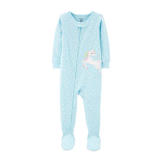 Carter's Snug Fit Girls One Piece Pajama Long Sleeve