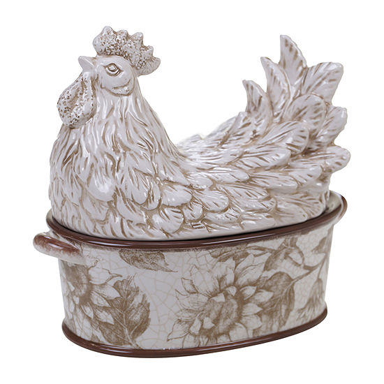 Certified International Toile Rooster Serving Bowl