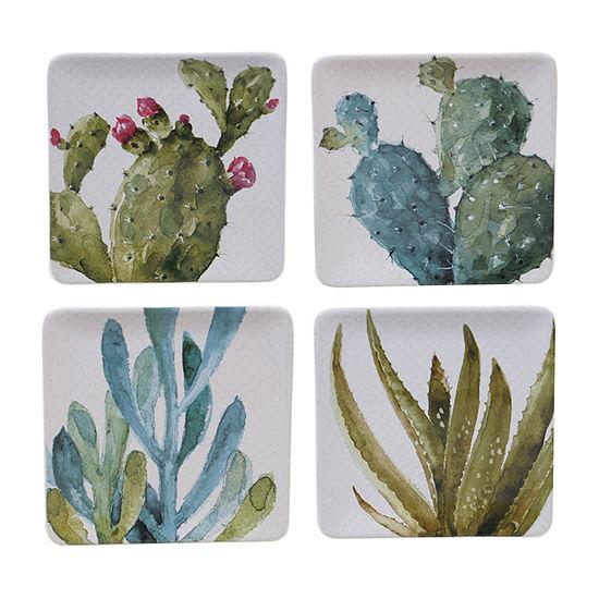 Certified International Cactus Verde 4-pc. Salad Plate