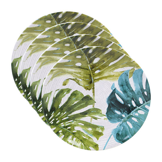 Certified International Palm Leaves 4-pc. Dinner Plate