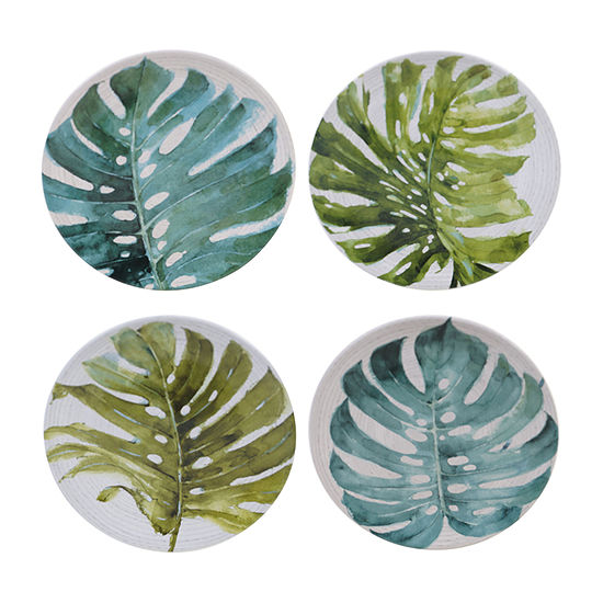 Certified International Palm Leaves 4-pc. Salad Plate