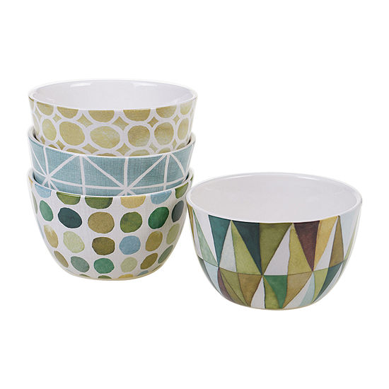 Certified International Patterns 4 Pc Ice Cream Bowl
