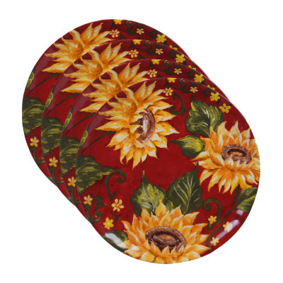 Certified International Sunset Sunflower 4-pc. Dinner Plate