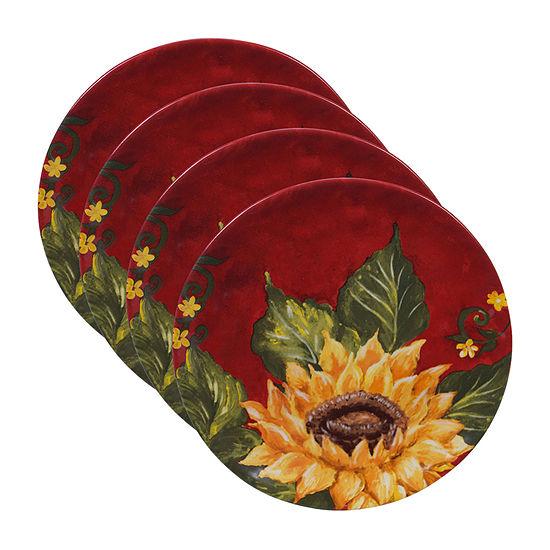 Certified International Sunset Sunflower 4-pc. Salad Plate