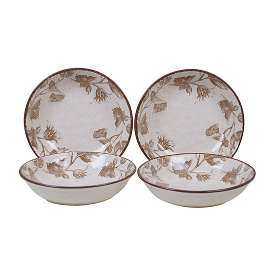 Certified International Toile Rooster 4-pc. Soup Bowl