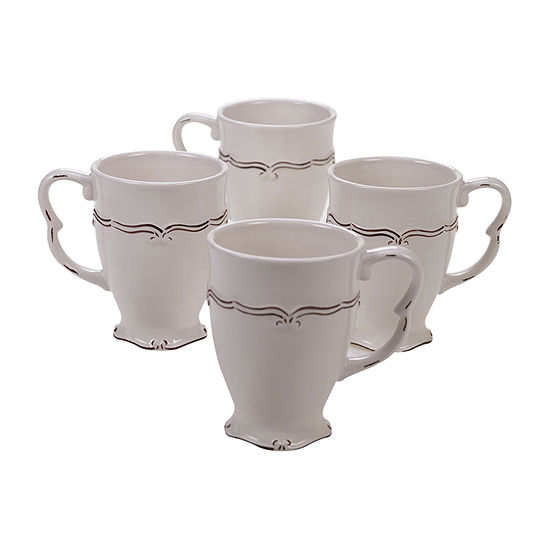 Certified International Vintage Cream 4-pc. Coffee Mug