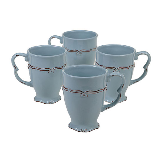 Certified International Vintage Blue 4-pc. Coffee Mug