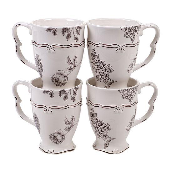 Certified International Vintage Floral 4-pc. Coffee Mug