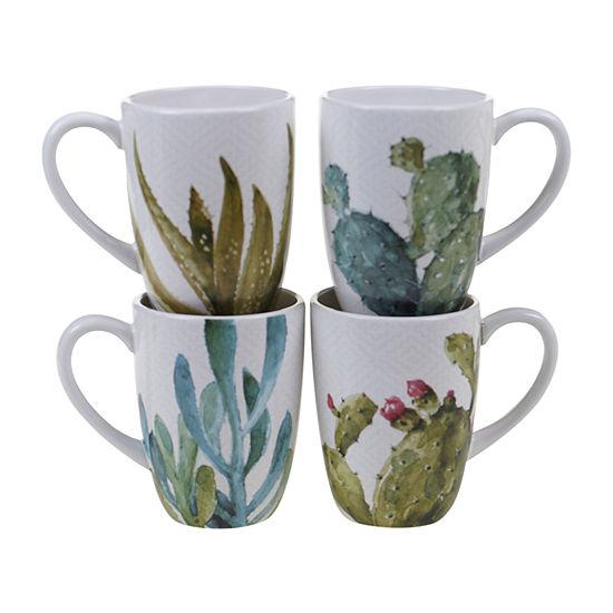 Certified International Cactus Verde 4-pc. Coffee Mug