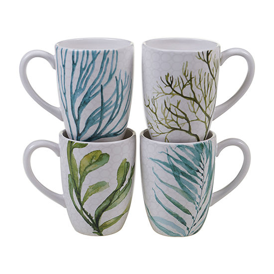 Certified International Sea Green 4-pc. Coffee Mug